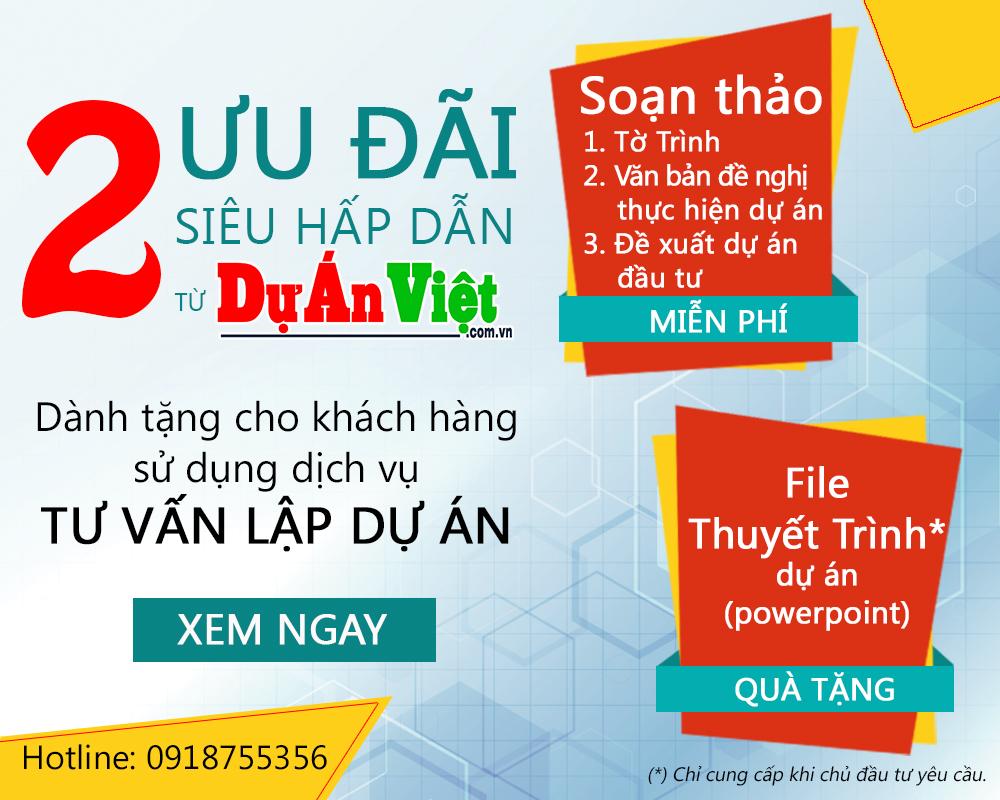 2 ưu đãi siêu hấp dẫn từ Dự Án Việt