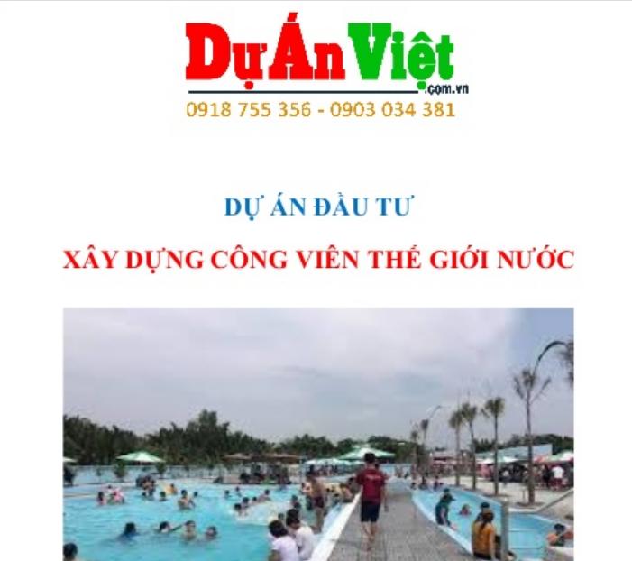 Xây dựng công viên thế giới nước tỉnh Quảng Ngãi