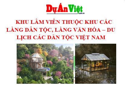 Khu lâm viên thuộc khu các làng dân tộc, làng văn hóa - Du lịch các dân tộc Việt Nam tại Hà Nội