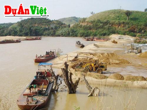 Dự án nạo vét tận thu cát đen lòng sông