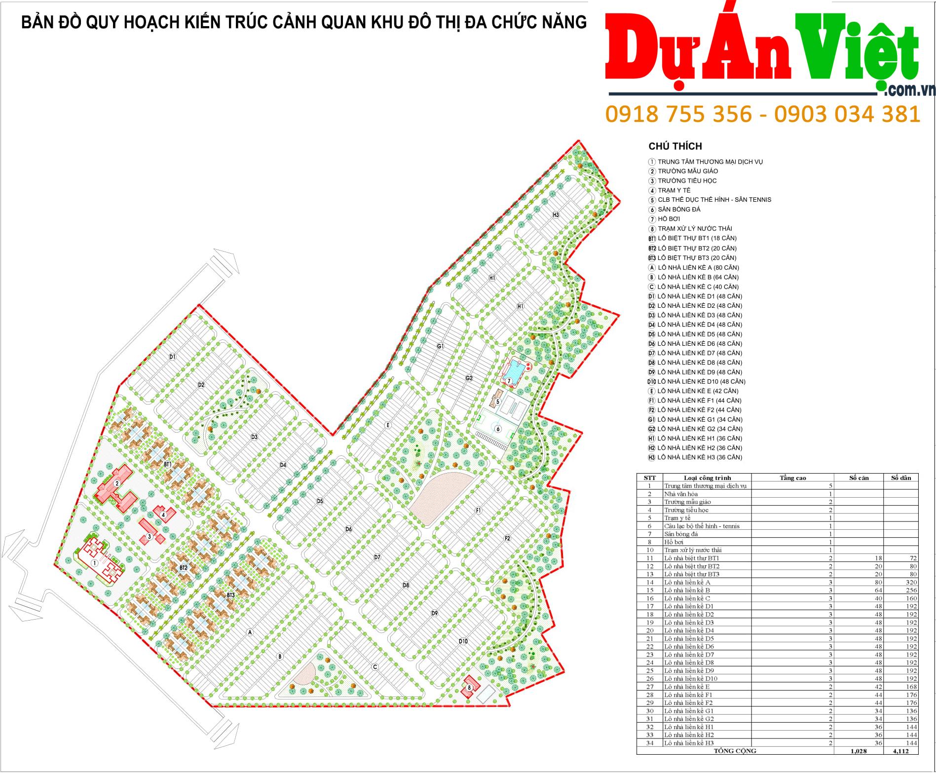Thiết kế quy hoạch: Bản đồ quy hoạch kiến trúc cảnh quan khu đô thị đa chức năng