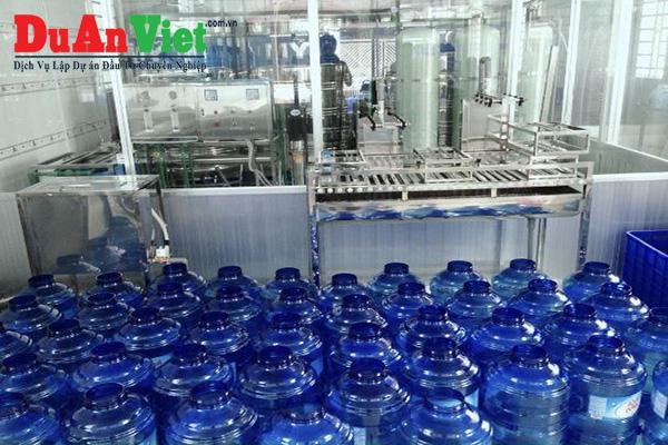 Thuyết minh dự án nhà máy nước tinh khiết