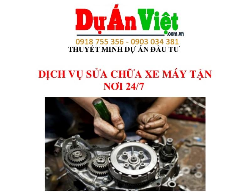 Dự án Sửa chữa xe gắn máy tận nơi 24/7 tại TPHCM