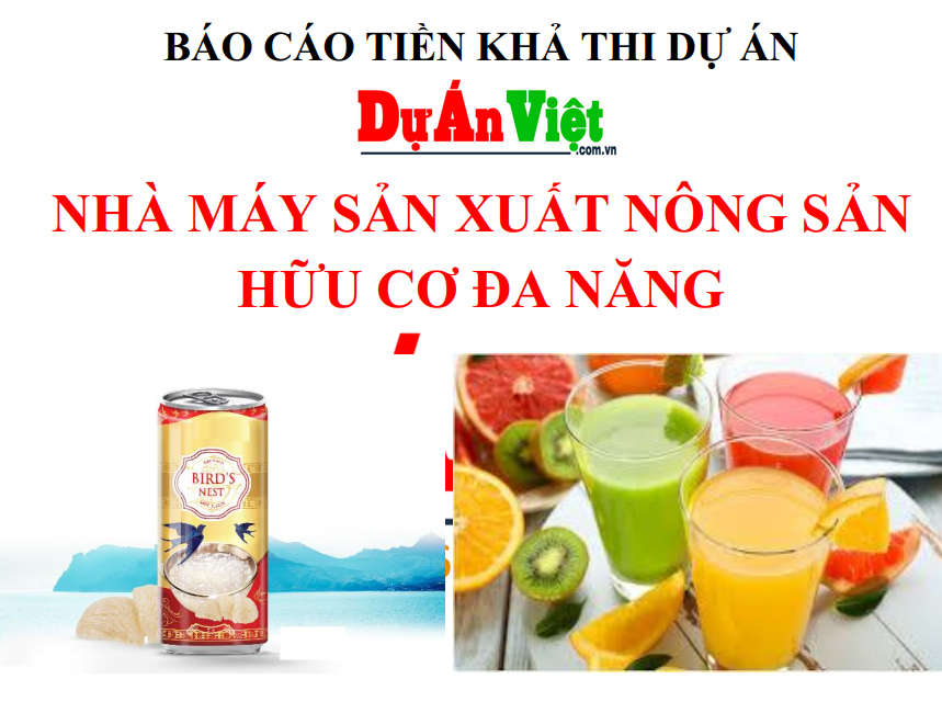 Nhà máy sản xuất nông sản hữu cơ đa năng tỉnh Kiên Giang