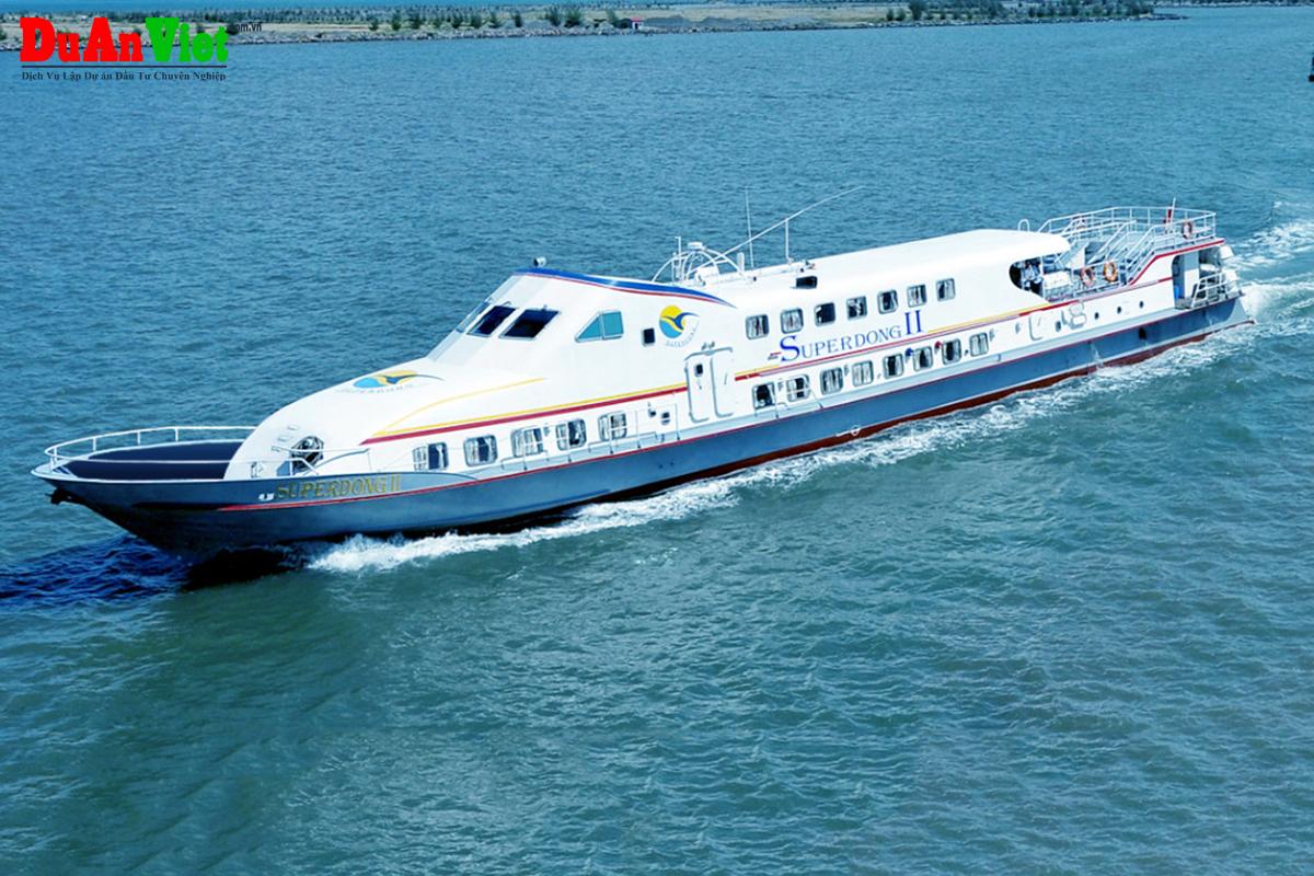 Dự án vận chuyển hành khách và hàng hóa ra đảo phú quốc bằng tàu cao tốc