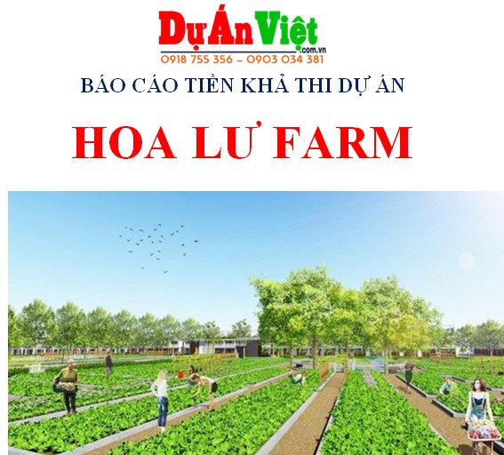 Thuyết minh dự án đầu tư Trang trại Hoa Lư Farm