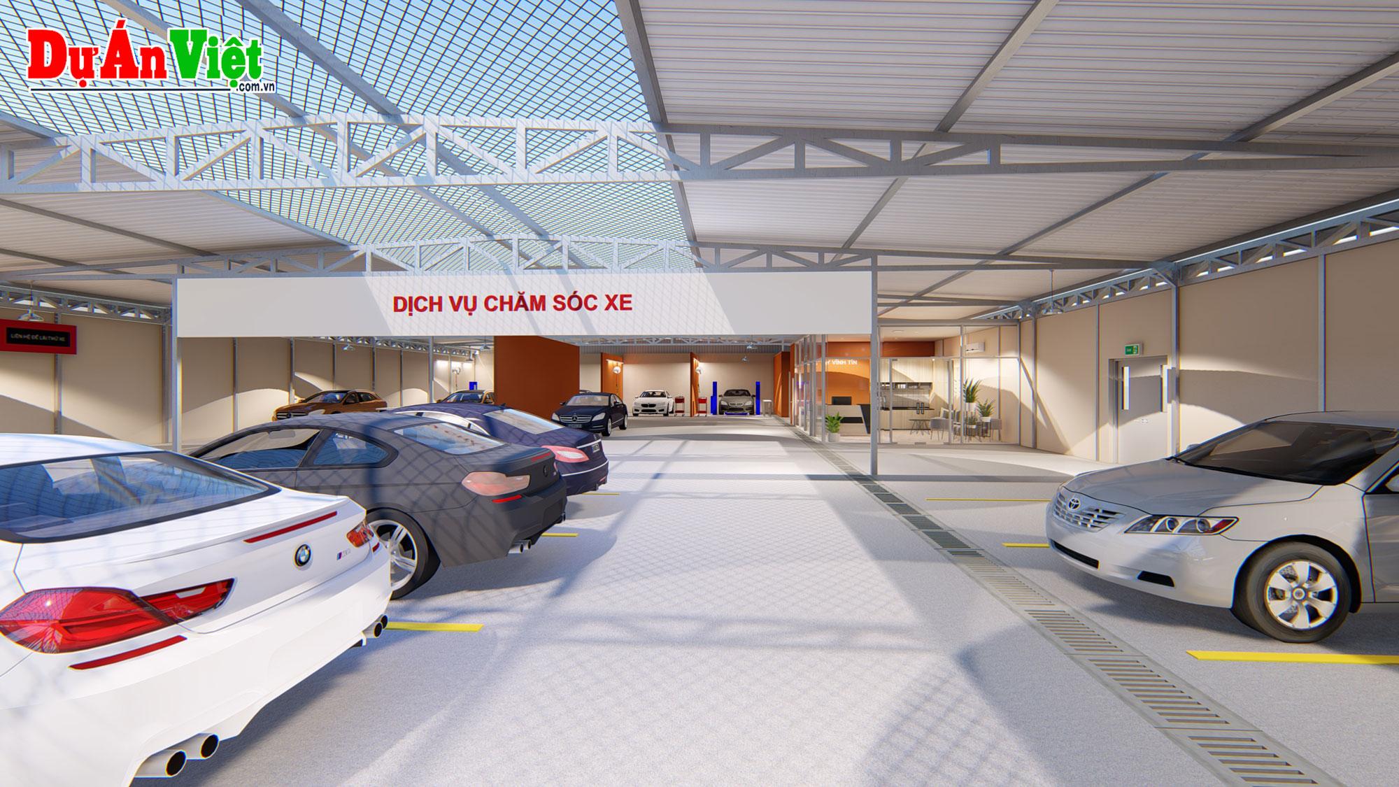Thiết kế quy hoạch - Bản vẽ phối cảnh dự án Dịch vụ chăm sóc xe ô tô