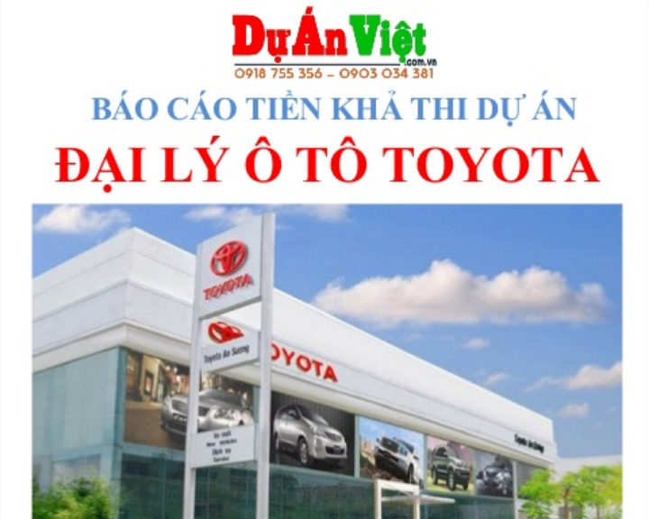 Dự án đầu tư Đại lý Ô Tô Toyota tại Hà Nội